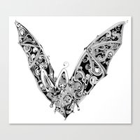 bat Canvas Prints featuring Bat by Gwyn Hockridge