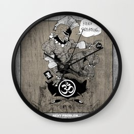 Spartan Buddha Yoga Wall Clock