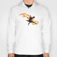 zuko Hoodies featuring Fight Fire With Fire by Junryou