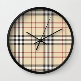 red line patter Wall Clock