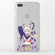 Neko Lady Clear iPhone Case