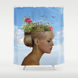 The ideas grow here Shower Curtain
