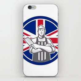 British Butcher Front Union Jack Flag Icon iPhone Skin