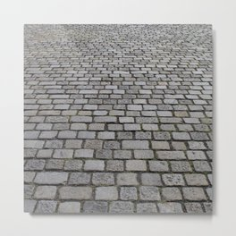 cobble stone pavement Metal Print