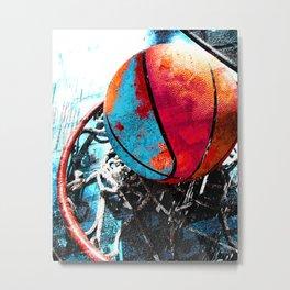 Basketball art swoosh vs 19 Metal Print