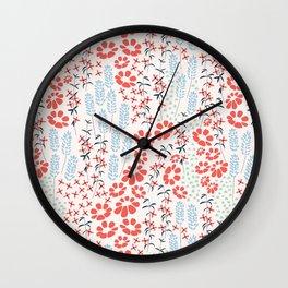 Flower garden 010 Wall Clock