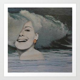 The Sea Was Her Foam Art Print