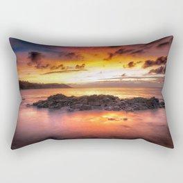Sunrise at Langland Bay Rectangular Pillow