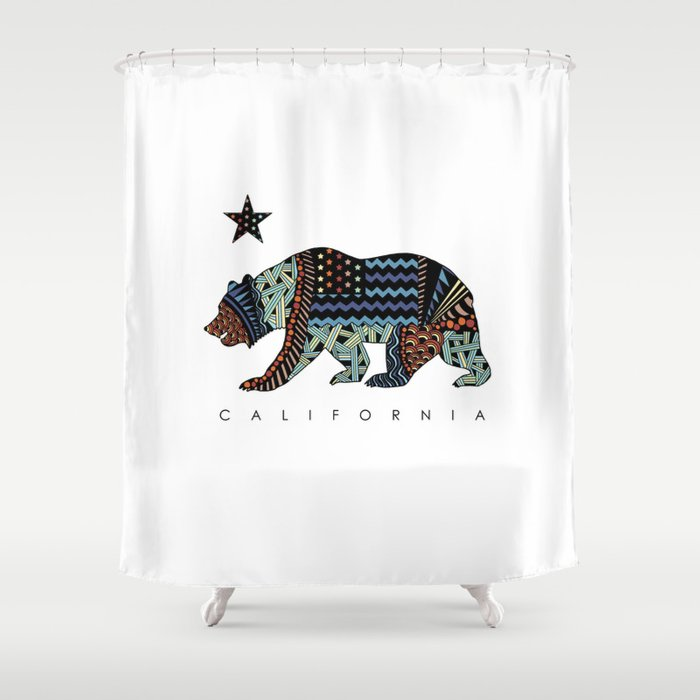 California Shower Curtain By Tam