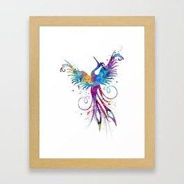 Phoenix Watercolor Print Nursery Art Gift for Her Bird Art Framed Art Print