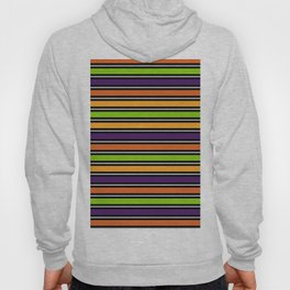 Modern colorful halloween October 31 abstract stripes Hoody