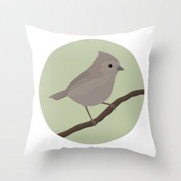 Oak Titmouse Throw Pillow