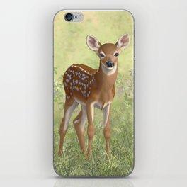 Cute Whitetail Deer Fawn iPhone Skin