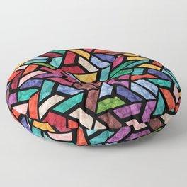 Seamless Colorful Geometric Pattern VII Floor Pillow
