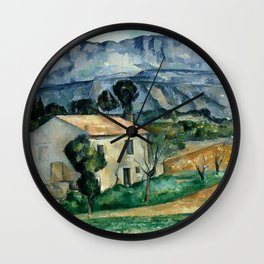 1886 - Paul Cezanne - House in Provence Wall Clock