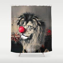 Circus Lion Clown Shower Curtain