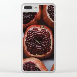 Pomegranates in Israeli Market Clear iPhone Case