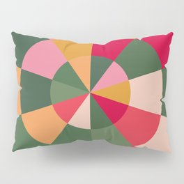 Colourful Wheel of Fortune Pillow Sham
