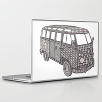 volkswagon Laptop & iPad Skins featuring Tangled VW Bus - side view by Cherry Creative Designs