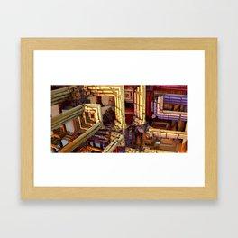 blocks of networking Framed Art Print