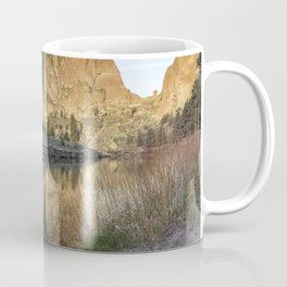 Reflection of Smith Rock in Crooked River Coffee Mug
