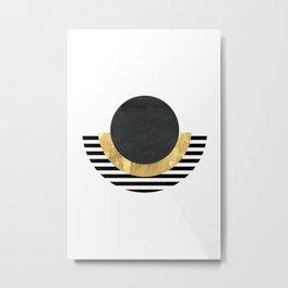 Modern Geometric Egyptian Print Metal Print