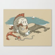 Fish Mouth to Mouth Canvas Print