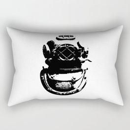 Diving Helmet Rectangular Pillow