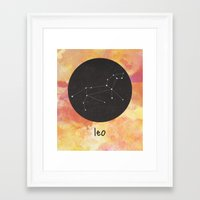 leo Framed Art Prints featuring Leo by snaticky
