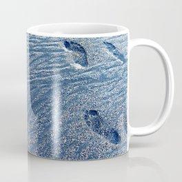 Footprints at the Beach Coffee Mug