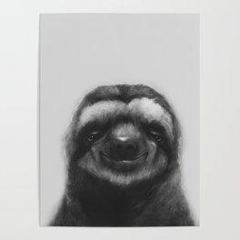 Sloth #1 (B&W) Poster