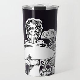 Not Amused - Black Travel Mug