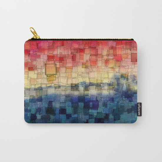 Blue Tide Mosaic Carry-All Pouch