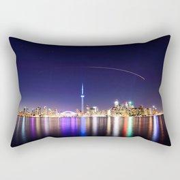 Toronto Vibrant nightscape Rectangular Pillow