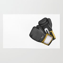 For the love of Boxing // BLACK & YELLOW Rug