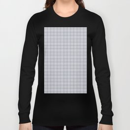 Mauve Blue Grid Checks II Long Sleeve T-shirt