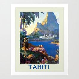 Vintage poster - Tahiti Kunstdrucke