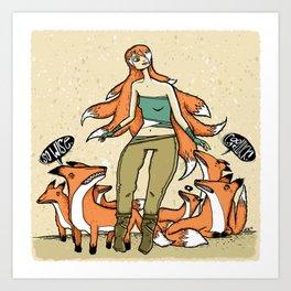 Wisest Kitsune Art Print