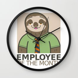 Employee of the Month Wall Clock