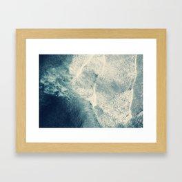 Ice Blue Surf Framed Art Print