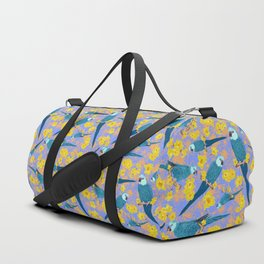 Spix Macaw Flower Power Duffle Bag