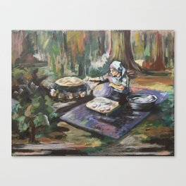 Traditional Breadmaking Canvas Print