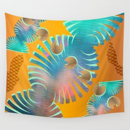 Abstracted Tropics: Shape Vibes Wall Tapestry