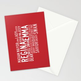 Swan Queen Nicknames - Red (OUAT) Stationery Cards
