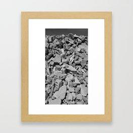 Concrete Bricks - Black & White Framed Art Print