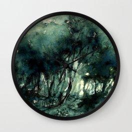mürekkeple orman Wall Clock