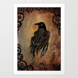 Clockwork Raven Art Print