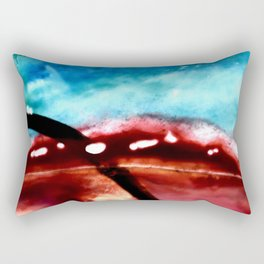 the earth is on fire Rectangular Pillow