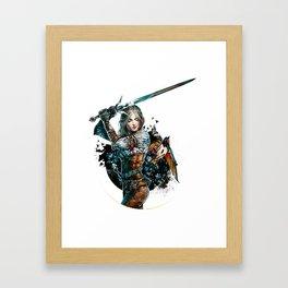 Ciri - The Witcher Wild Hunt Framed Art Print