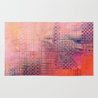 darren criss Area & Throw Rugs featuring Criss Cross by RDKL, Inc.